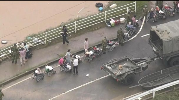Devastating flood and landslides hit Japan