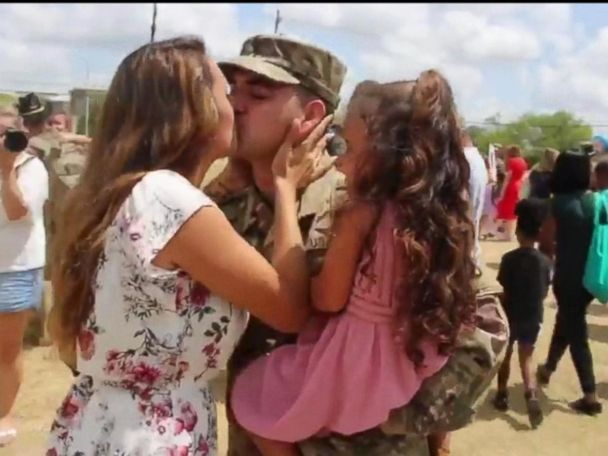 WATCH:  Military family's reunion ignites a viral, emotional reaction
