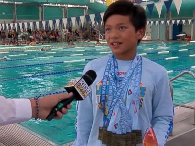WATCH: 10-year-old breaks Michael Phelps' record in the 100-meter butterfly