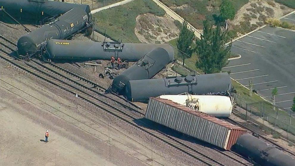 Train derailment prompts evacuations in California