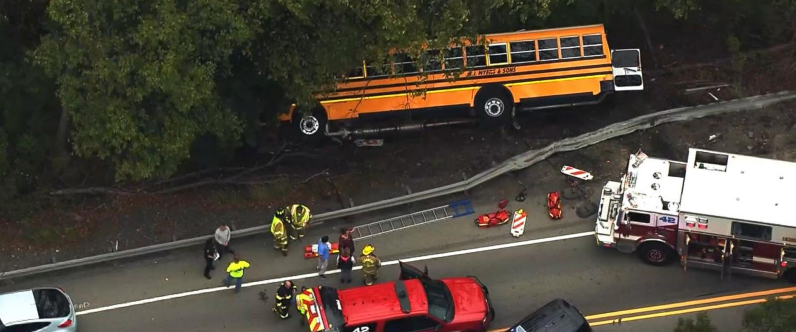 VIDEO: Students treated for minor injuries after school bus crash