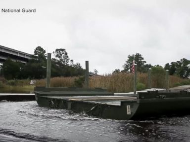 WATCH Guard building floating bridge over SC floodwaters