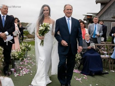 WATCH: Intimate wedding ceremony for former first daughter Barbara Bush