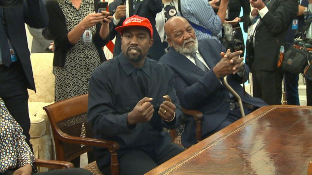 7d4ee8dceb38b Kanye West visits the White House for a meeting with Trump Video ...
