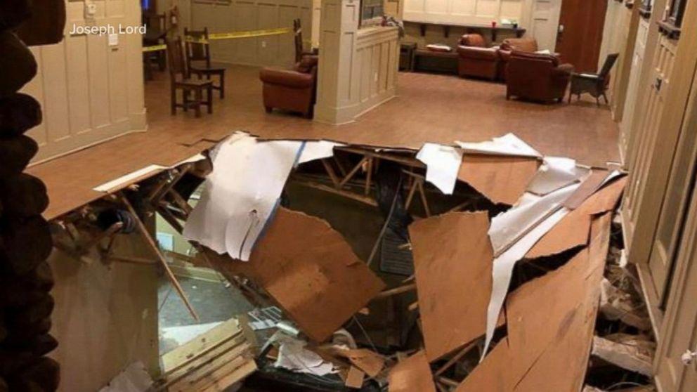 Dozens injured when floor collapses