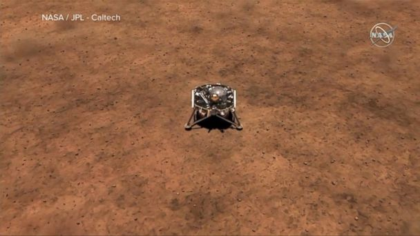 VIDEO: NASA's InSight lander touches down on Mars