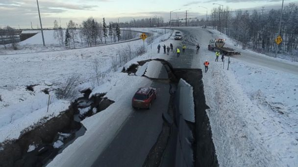 Aftershocks continue to rock the Anchorage area
