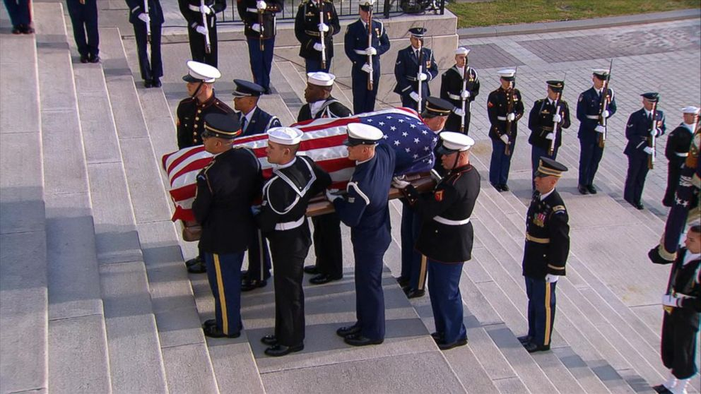 George H.W. Bush in Washington for final honors before burial in Texas