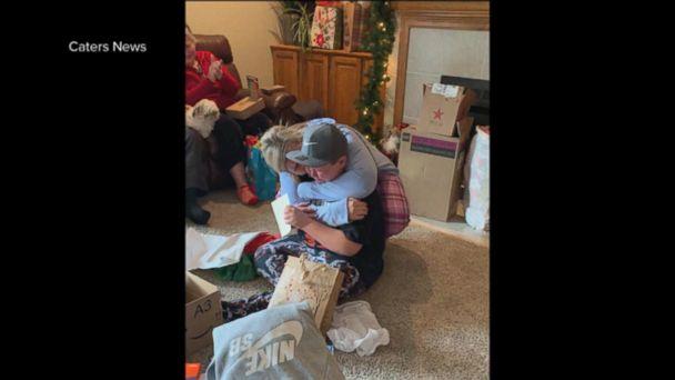 A boy's Christmas surprise