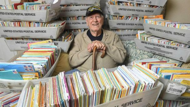 WWII Veteran Receives 60000 Birthday Cards After Facebook Post