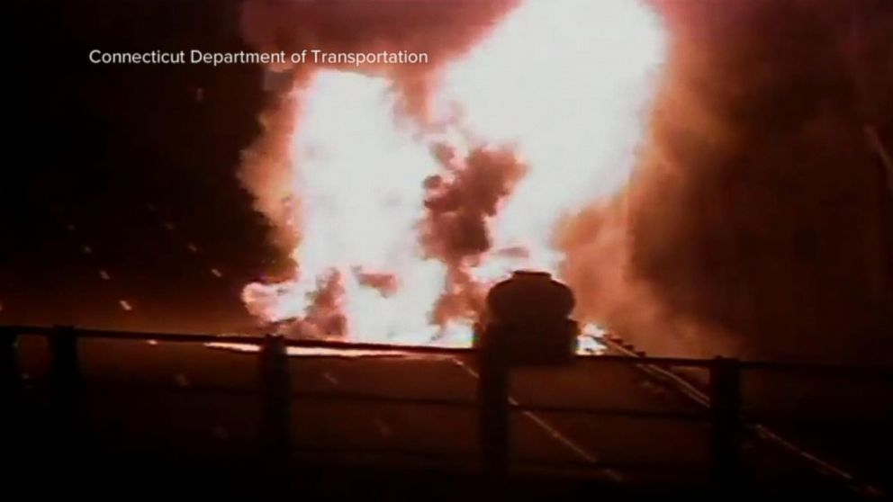 9,000 gallon gas tanker bursts into flames on highway