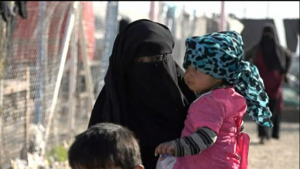 Women and children flee Syria