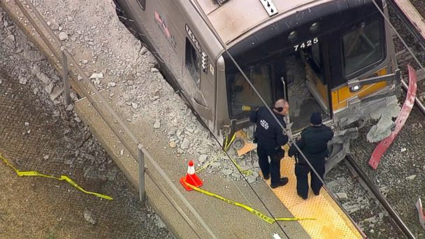 3 killed when pickup truck is hit by 2 trains outside New York City