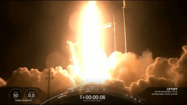 SpaceX successfully launches rocket en route for the International Space Station