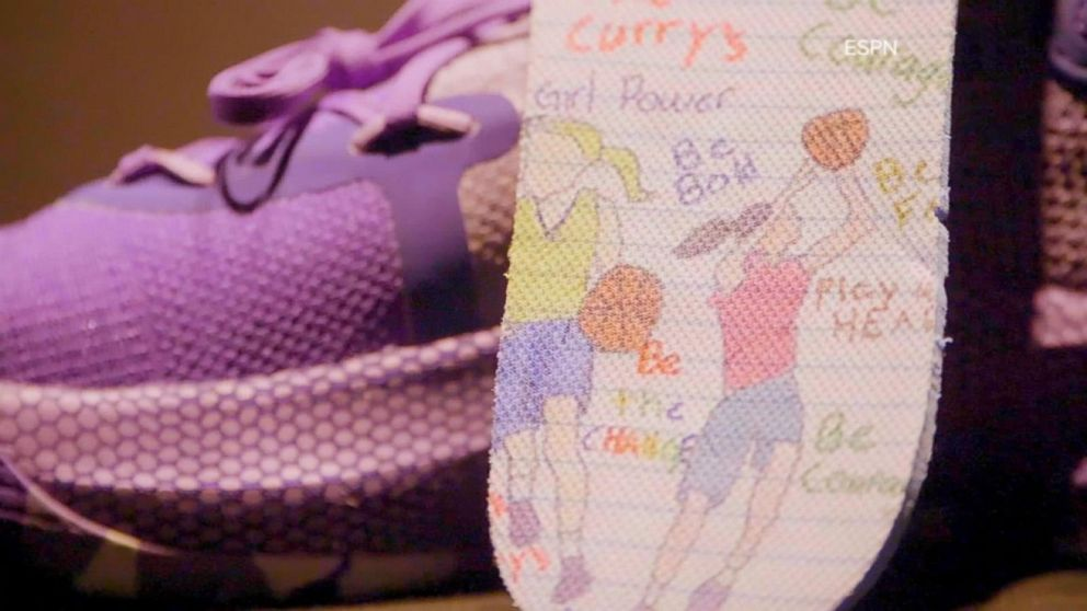 c0de84326328 9-year-old girl designs sneakers with Golden State Warriors  Steph Curry