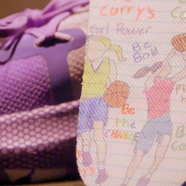 68d2586cc694 9-year-old girl designs sneakers with Golden State Warriors  Steph Curry