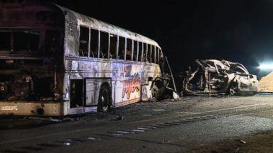 Speeding semi-truck slams into school bus Video - ABC News