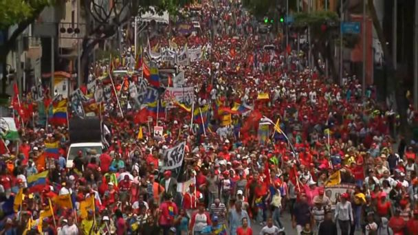 Thousands took the streets in support of opposition leader Juan Guaido in Venezuela