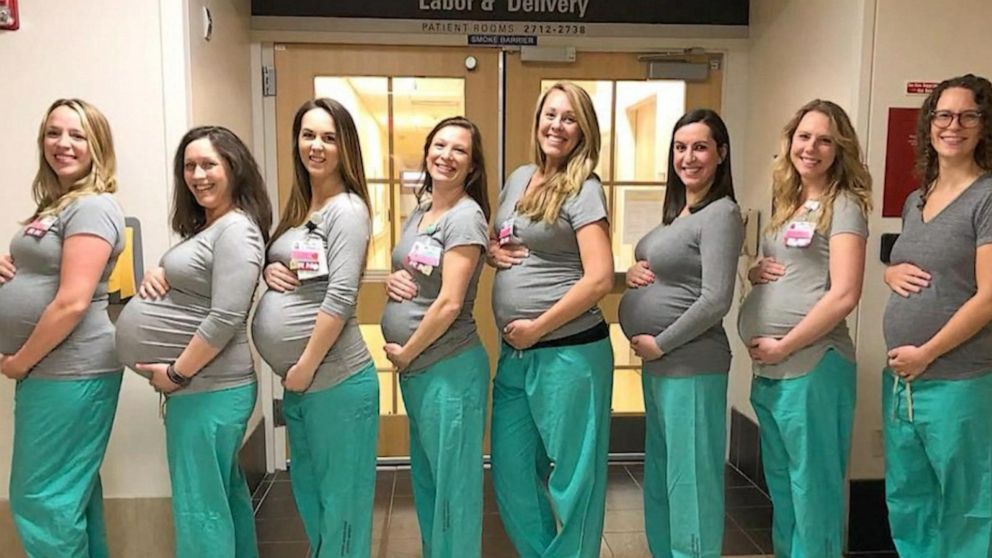 several nurses at a maine hospital are pregnant at the