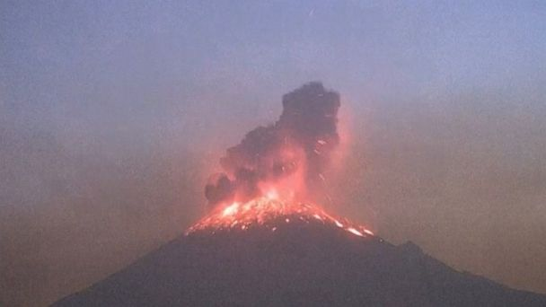 Volcano in Mexico erupts for second time in less than week
