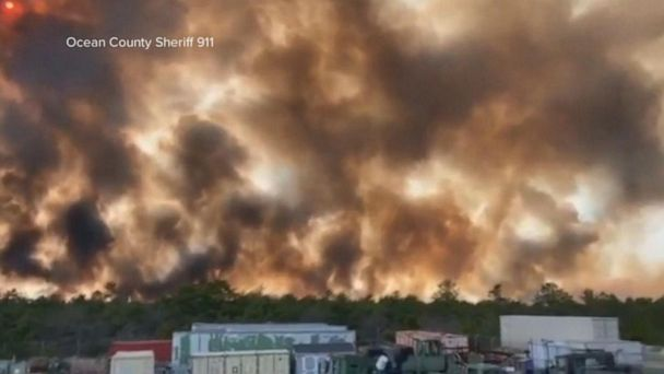 Massive wildfire destroys 10,000 acres of forest in New Jersey