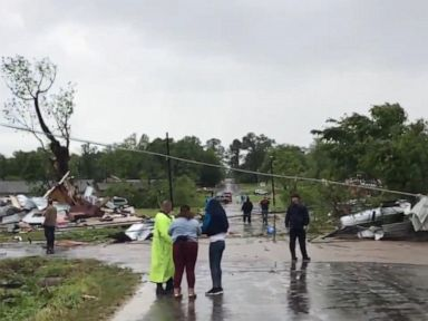 WATCH Powerful storm makes its way through the South