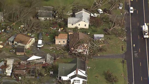 Tornado damages 12 buildings in Delaware in severe weather outbreak