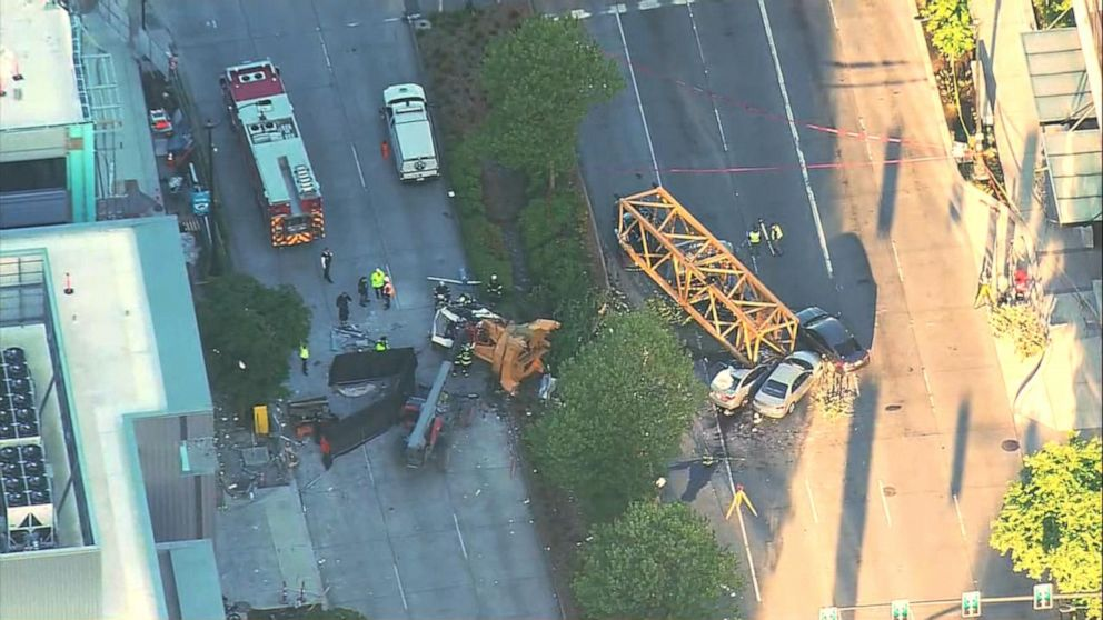 4 dead, 3 injured after crane collapses in Seattle: Officials - ABC News
