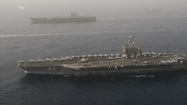 Pentagon sends carrier strike group to Persian Gulf