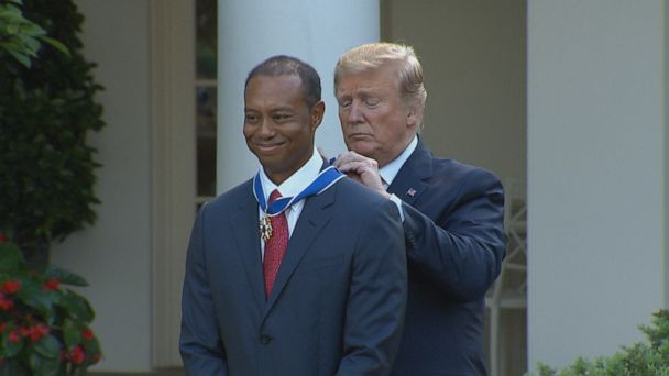 Tiger Woods honored at White House