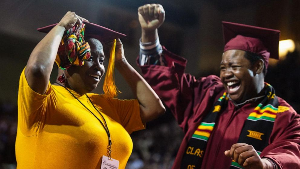 Mom who skipped her own college graduation to attend son's surprised with a degree