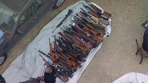 Thousands of weapons seized in Los Angeles