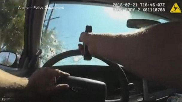 Body-cam footage shows officer firing gun at suspect through windshield