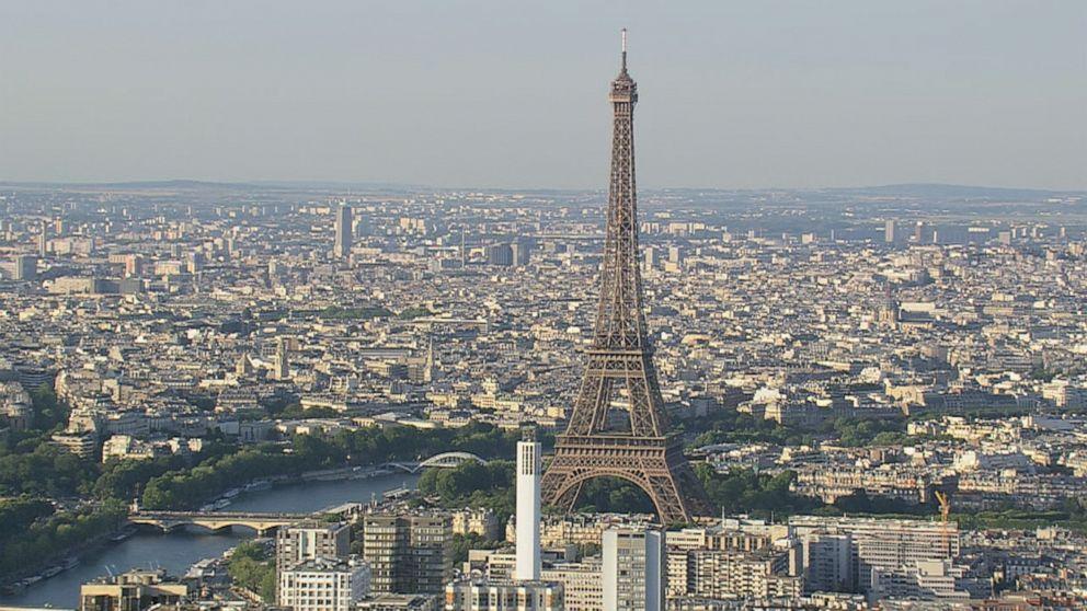 Eiffel Tower shut down after man climbs up the side