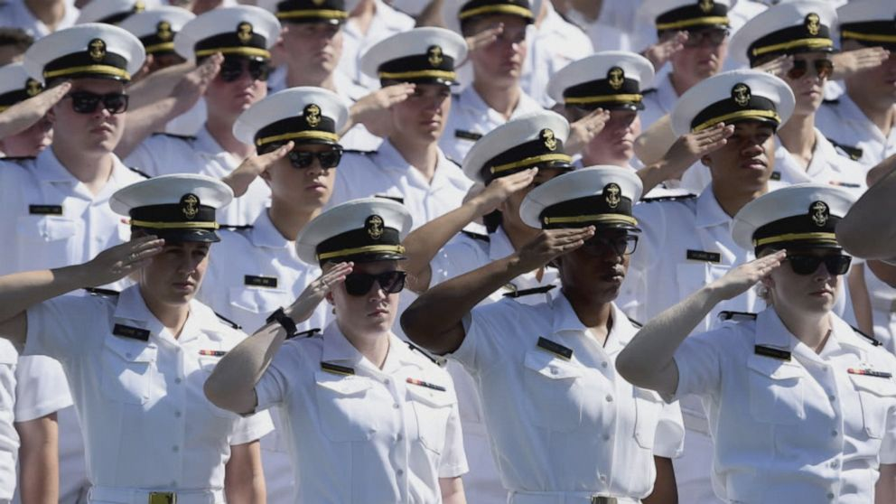 US Naval Academy celebrates record graduation rate