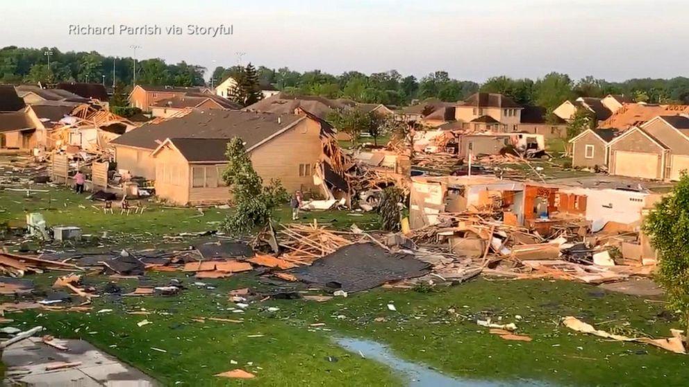 Tornadoes slam suburbs of major Ohio city