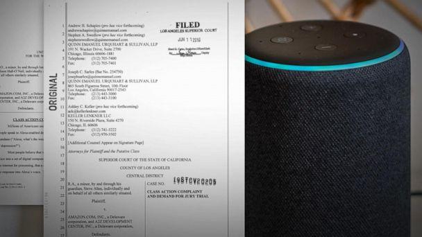 Amazon facing lawsuit over Alexa 'eavesdropping'
