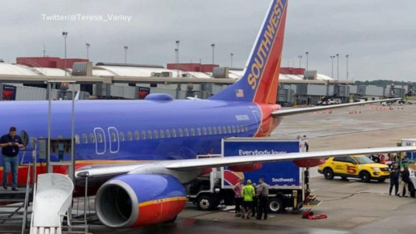 Plane set to depart Pittsburgh airport struck by a vehicle