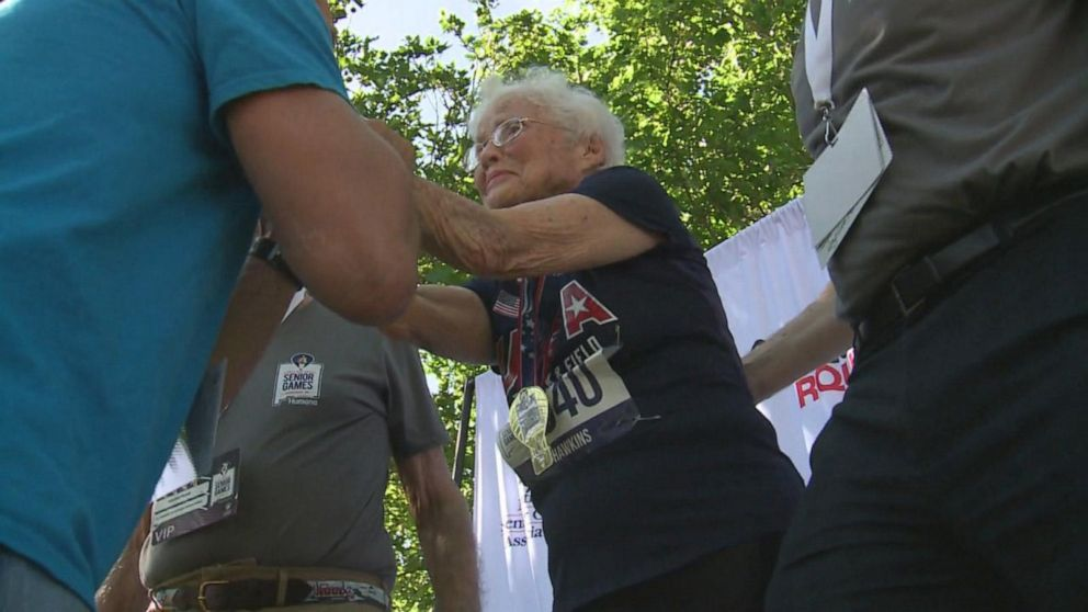 103-year-old runner wins gold in 50 and 100-meter dash