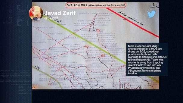 Iranian officials continue to claim that the shot-down drone was in Iran's territory