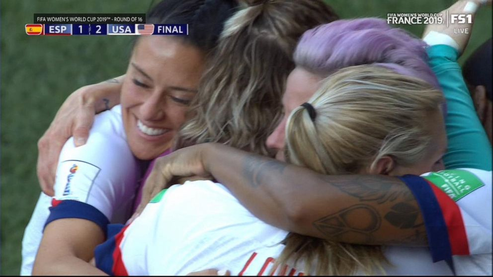 US women's soccer team survives tough challenge from Spain, 2-1