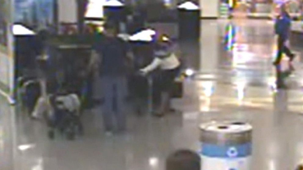 Video shows woman allegedly trying to kidnap children at airport