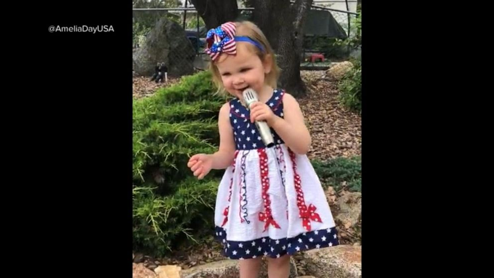 VIDEO: Video of a 2-year-olds rendition of the national anthem went viral