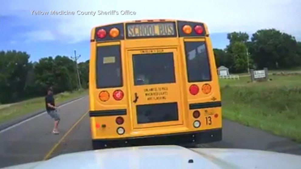 Stranger steps in after bus driver suffers medical emergency on the road