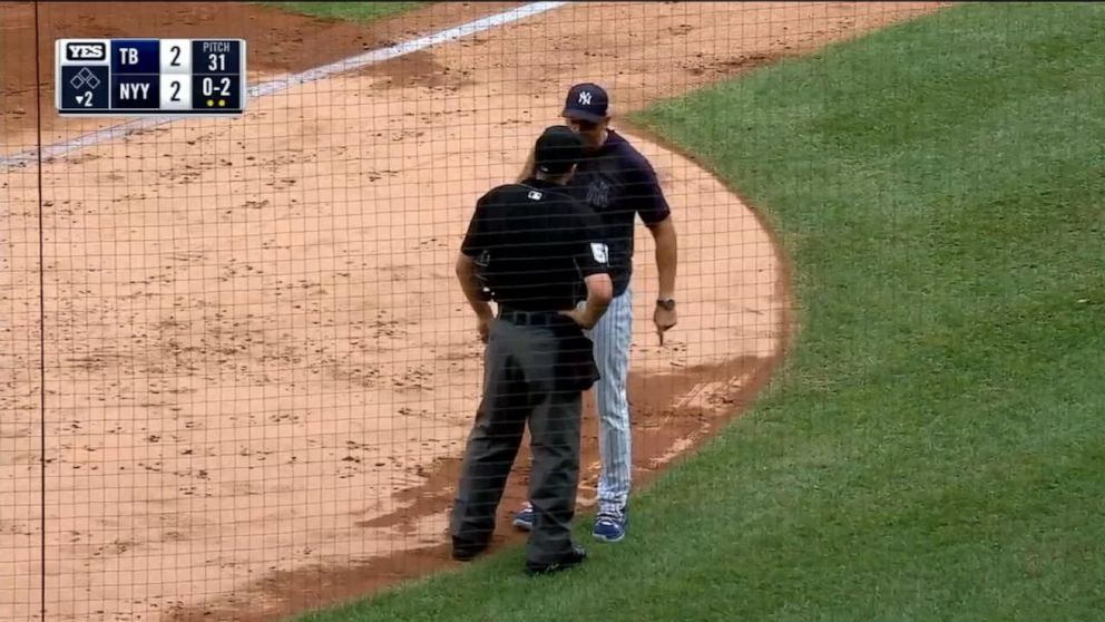Yankees manager suspended for 1 game, fined after tantrum during game