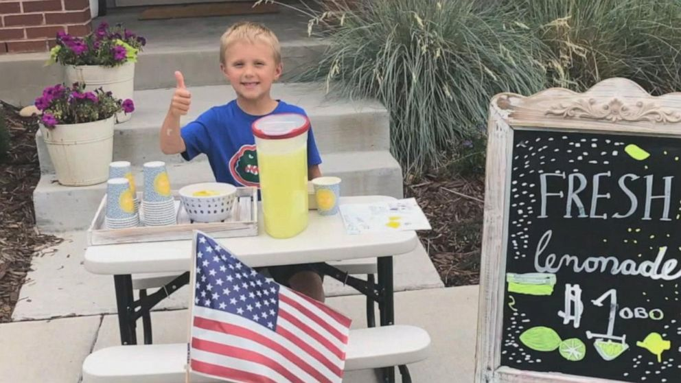 6 Year Old Sells Lemonade To Take Mom Out On Date After Father Dies Of Colon Cancer Video Abc News