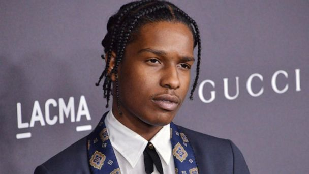 Rapper A$AP Rocky returns home