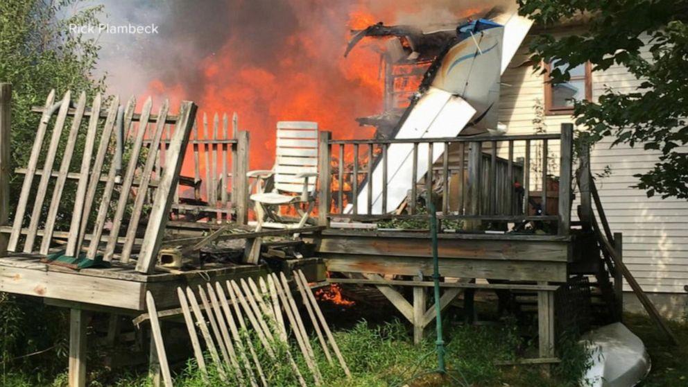 Plane crashes into a home, killing 1