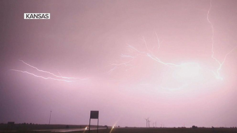 Severe summer storms bringing in damaging winds and torrential rains