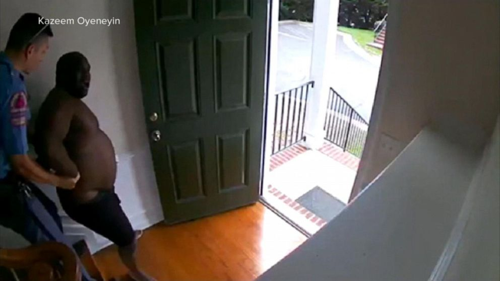 A black businessman was handcuffed in his own home after his alarm was triggered